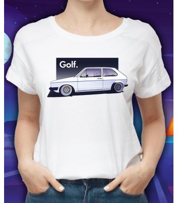 Biele tričko VOLKSWAGEN Golf MKI