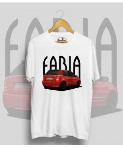 Biele tričko ŠKODA Fabia RS