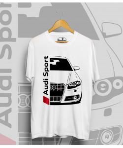 Biele tričko Audi S4 B7