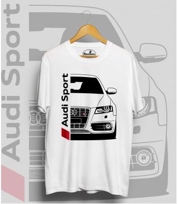 Biele tričko Audi S4 B8