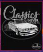 Čierne tričko BMW e34 white (ClassicNeverGetOld)