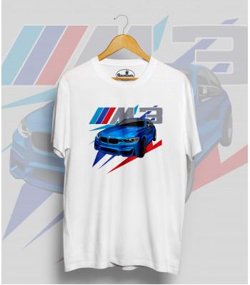 Biele tričko BMW M3