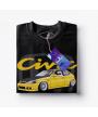Čierne tričko HONDA CIVIC 6.g Y
