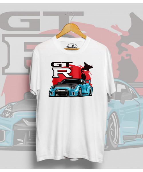 Biele tričko Nissan GTR