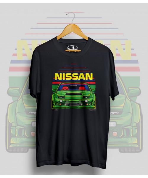 Čierne tričko Nissan
