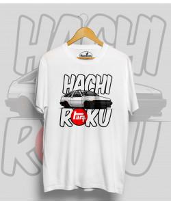 Biele tričko TOYOTA AE86 HACHI ROKU