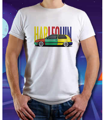 Biele tričko VOLKSWAGEN POLO Harlequin