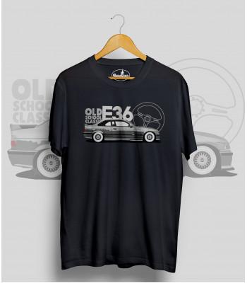 Čierne tričko BMW e36 silver (OldSchoolClassic)