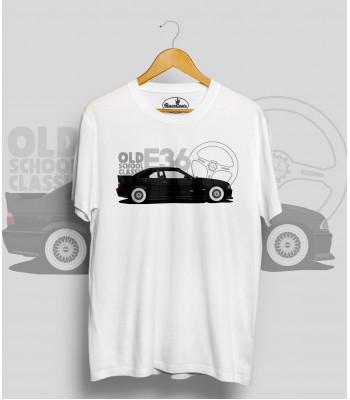 Biele tričko BMW e36 black (OldSchoolClassic)
