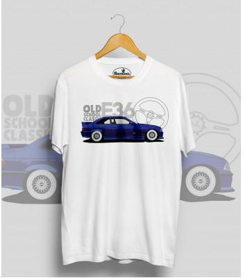 Biele tričko BMW e36 royal (OldSchoolClassic)