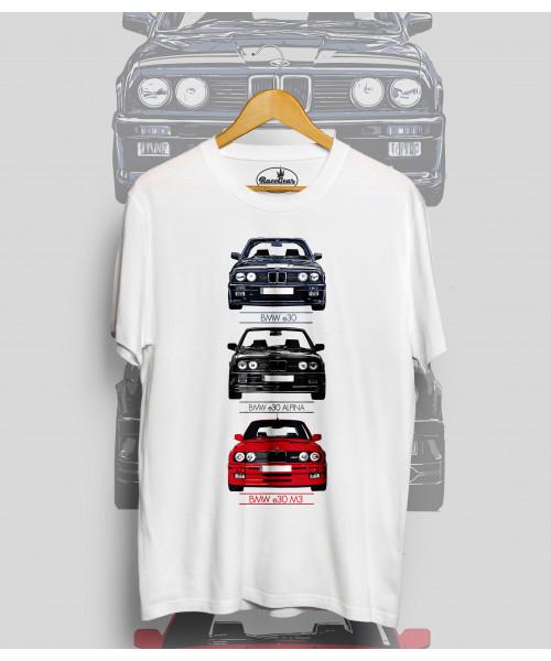Biele tričko BMW e30m, e30, e30 Alpine,