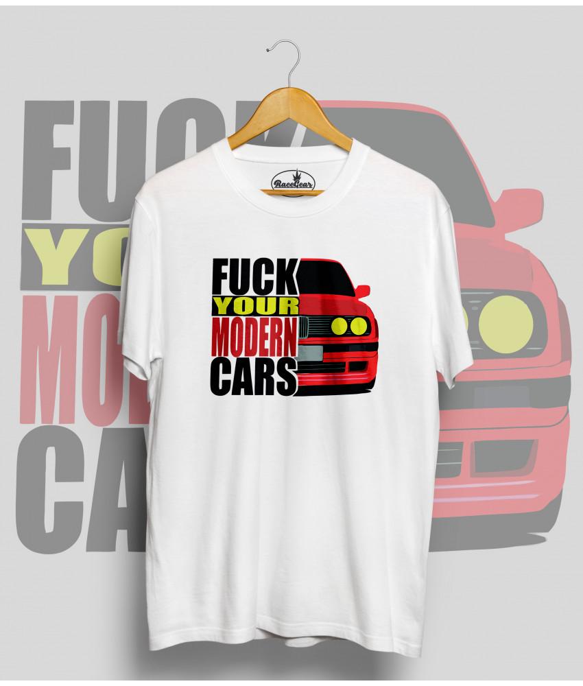 Biele tričko BMW e30 (FuckYourModernCars)