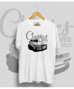 Biele tričko BMW e34 white (ClassicNeverGetOld)