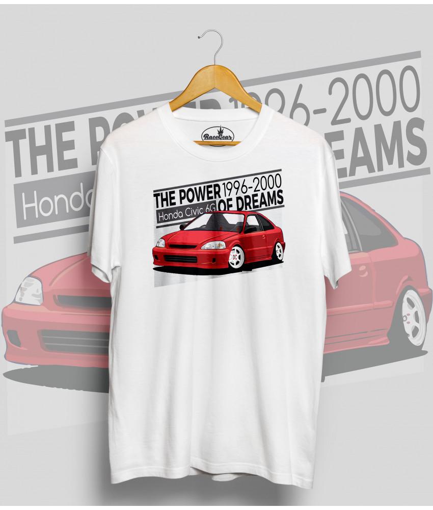 Biele tričko HONDA CIVIC 6.g (red)