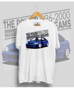 Biele tričko HONDA CIVIC 6.g (blue)