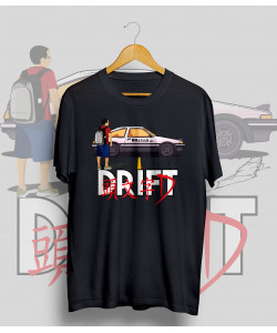 Čierne tričko TOYOTA AE86 DRIFT