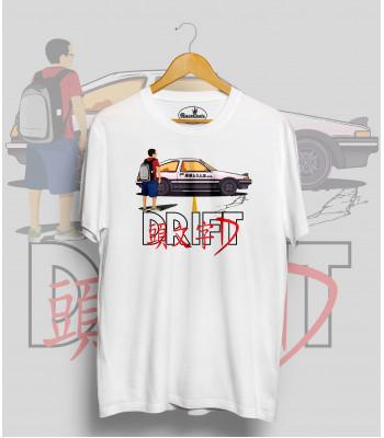 Biele tričko TOYOTA AE86 DRIFT