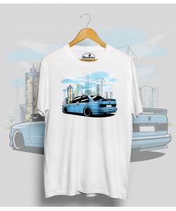 Biele tričko BMW e30 M3 blue city