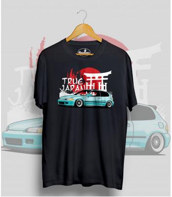 Čierne tričko HONDA CIVIC 5.g  (TrueJapan)
