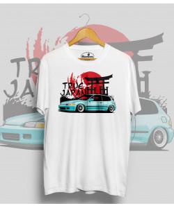Biele tričko HONDA CIVIC 5.g  (TrueJapan)