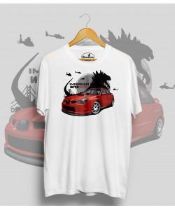 Biele tričko SUBARU WRX godzilla
