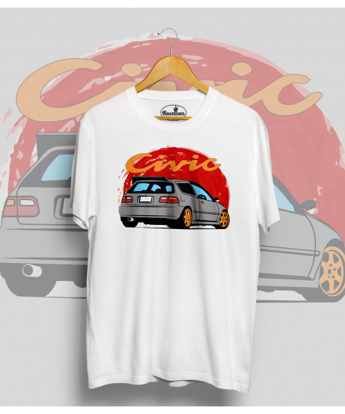 Biele tričko HONDA CIVIC G5 Sun