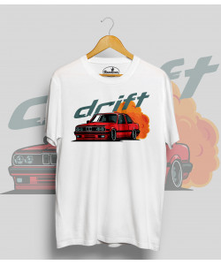 Biele tričko BMW e30 Drift