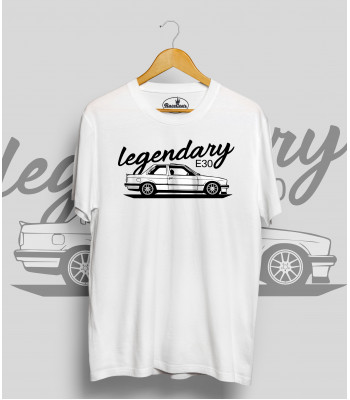 Biele tričko BMW e30 Legendary (black-white)