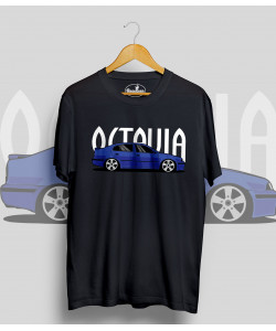 Čierne tričko ŠKODA Octavia I