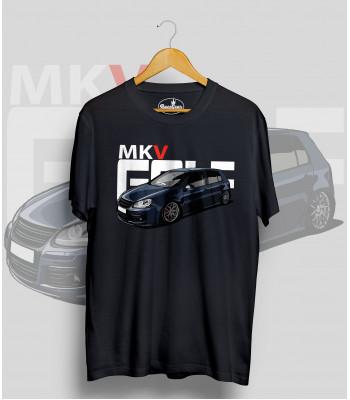 Čierne tričko VOLKSWAGEN Golf MK5