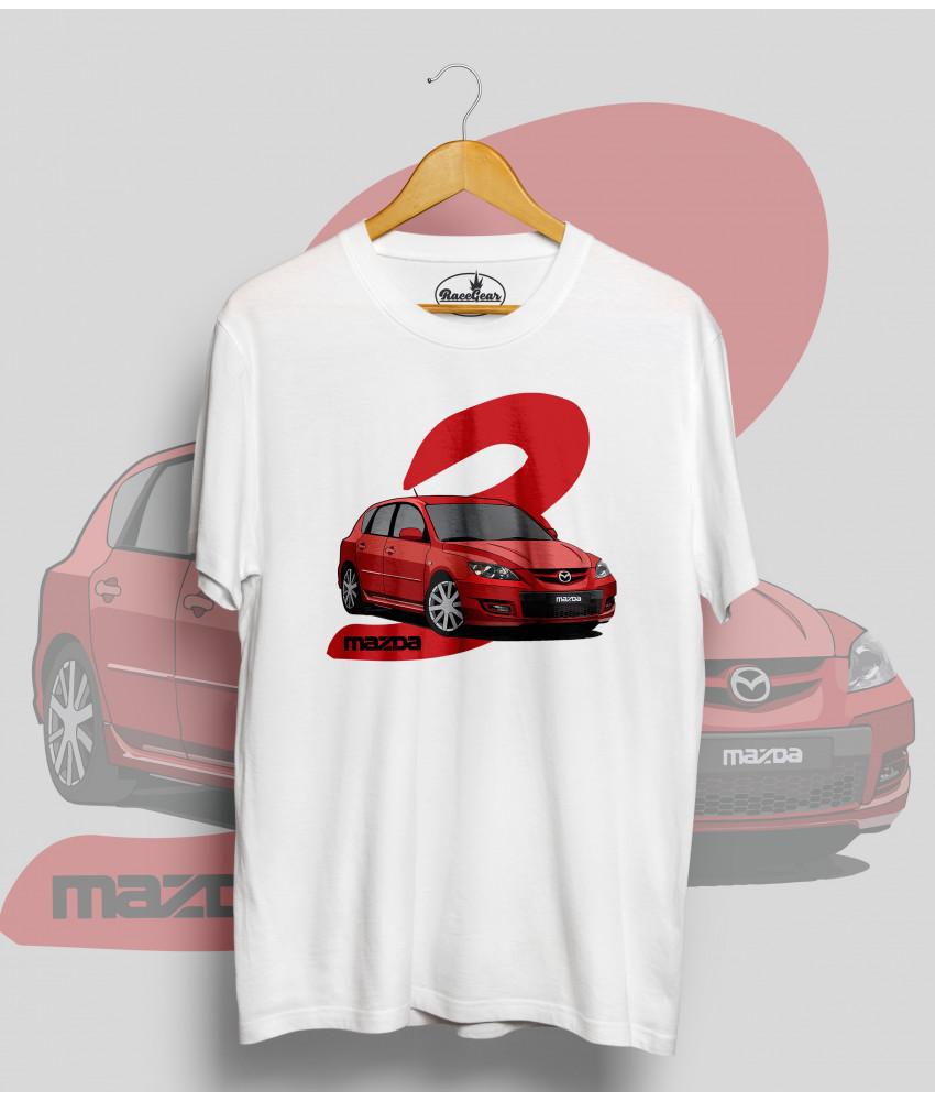 Biele tričko MAZDA 3