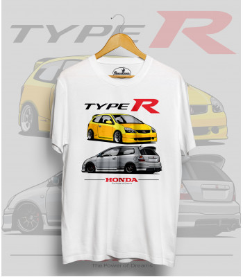 Biele tričko HONDA CIVIC Type R