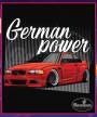 Čierne tričko BMW e46 red
